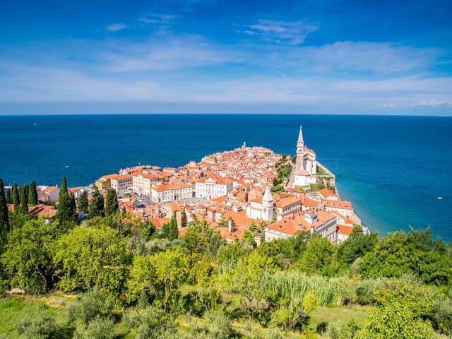 Slovenian coastal city of Piran